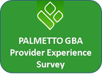 Palmetto GBA Provider Experience Survey Button. Links to https://www.surveymonkey.com/r/JPYHTDN